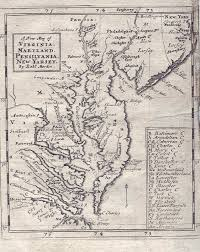 Map Of New England Colonies by 1680 U0027s Pennsylvania Maps