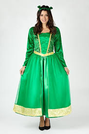 Shrek Halloween Costumes Adults Princess Fiona Shrek Fancy Dress Costume Women George