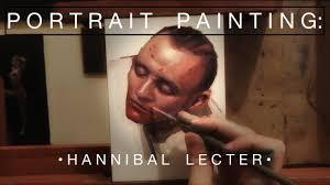 Oil Painting Meme - portrait painting hannibal lecter oil painting time lapse youtube