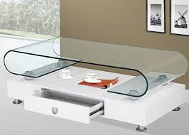 White Glass Coffee Table Contemporary Coffee Tables San Francisco