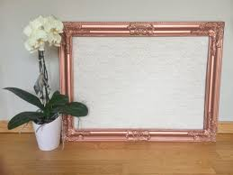 wedding wishes board intricate metallic copper framed corkboard cork board pinboard