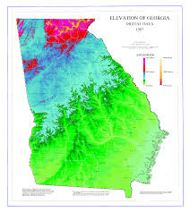 Picture Of Map Map Of Georgia Topography Worldofmaps Net Online Maps And