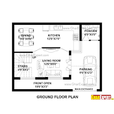 house plan for 30 feet by 23 feet plot plot size 77 square yards
