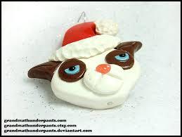 grumpy cat ornament by grandmathunderpants on deviantart