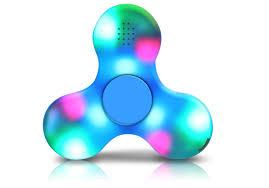 fidget spinner light up blue led light switch mini bluetooth speaker music light up fidget