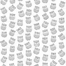 halloween owl silhouette vector abstract seamless pattern from dark grey little owl