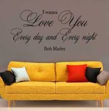 chambre bob marley bob marley i wanna you lyrics bedroom wall quote vinyl