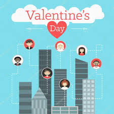 conceptmodern vector st valentine u0027s day greeting card in flat style