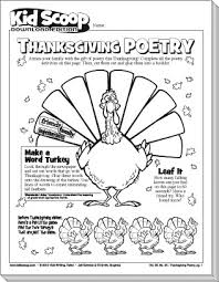 thanksgiving poetry kid scoop