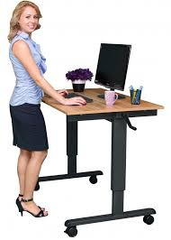 small electric standing desk our crank adjustable stand up desk is easy to adjustment from
