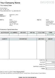 Sales Invoice Template Excel Free Free Excel Invoice Templates