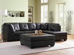 furniture extraordinary fenmore black faux leather contemporary