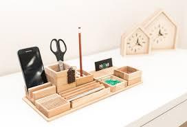 organiseur de bureau en bois bureau organisateur bois stylo porte pot à crayon iphone