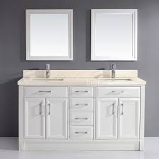 Beige Bathroom Vanity by Studio Bathe Calais 63 Inch White Double Bathroom Vanity Beige