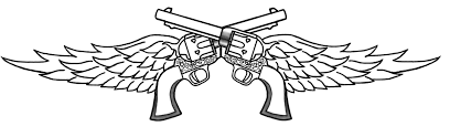 double pistol with wings tattoos photos pictures and sketches