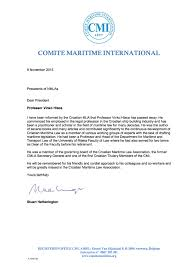 Landlord Reference Letter Ireland Correspondence From The President Comite Maritime International