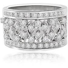 rings bands diamonds images Wide band diamond rings for women and men engagement bands jpg