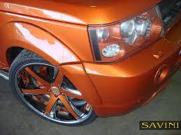 orange range rover sport range rover sport savini wheels