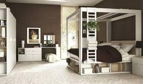 chambre lit baldaquin lit à baldaquin en bois design blanc pour adulte 160 x 200 cm 4you