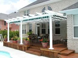 Pergola Designs For Patios by Exterior White Stained Wooden Pergola Designs On Brown Wooden