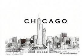 simple chicago skyline sketch u2013 free image download