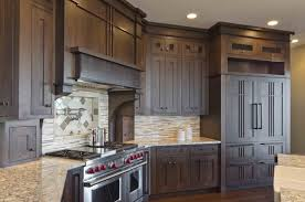 craftsman style kitchen prairie cabinets cream tile top on the
