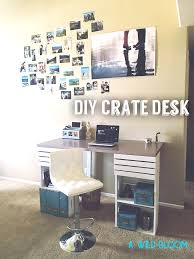 Wall Desk Diy by Diy Crate Desk For 100