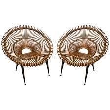 pair of rattan