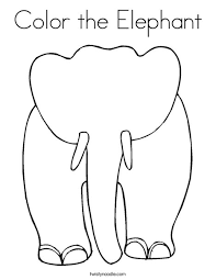 elephant love coloring page color the elephant coloring page twisty noodle elephants love