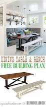 Dining Room Bench Plans by Build A Beautiful Rustic X Dining Table And Matching Bench Like