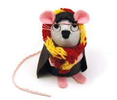 handmade felt mice ornaments from the house of mouse blogandbuysale