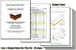 home bar design collection instant download pdf plan sets