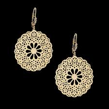 filigree earrings 18kt gold layered filigree earrings oro laminado