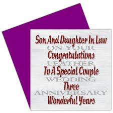 in 3rd wedding anniversary card leather