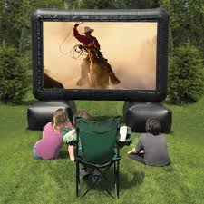 12 1 home theater the 12 foot inflatable screen outdoor home theater system homes