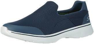 men skechers go walk 4 54152nvgy navy slip on walking sneaker