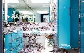 7 rare retro bathroom ideas from the pages of vogue magazine marble and chrome vintage blue serenity washroom master bath powder room cupboards vanity blue serenity pantone