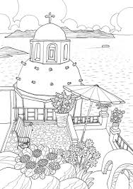 coloring europe magical greece a coloring book tour of greek