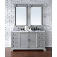 Vanity Merrick Gela 72 Inch Grey Double Vanity With Carrera White Marble Top