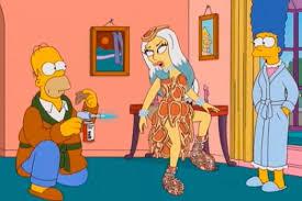 lady gaga com o famoso vestido de carne em
