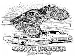 grave digger monster truck coloring pages funycoloring