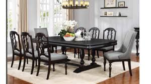 traditional solid wood extendable dining room sets table 8 chairs