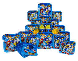 sonic the hedgehog party supplies sonic the hedgehog party pack seats 8 napkins plates cups