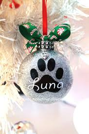 ornaments ornaments with names paw print or