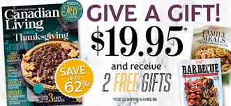 canadian living magazine gift subscriptions gifts for
