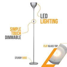elite light fixtures brightech store sky elite led torchiere floor lamp u2013 dimmable