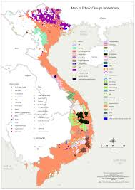 Ethnic Map Usa by Ethnic Map Vietnam Vietnam Was Reunified In 1975 At The End Of