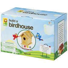 amazon com build a bird house childrens wood craft kits