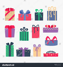 set cute colorful gift boxes isolated stock vector 234307555