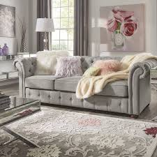 gray chesterfield sofa vegard tufted chesterfield sofa reviews joss